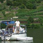 Jacht na Kotwicy na rzece Mosela