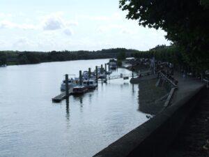 Port na rzece Saona